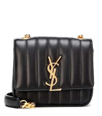 Saint Laurent - Vicky Medium leather shoulder bag - mytheresa.com