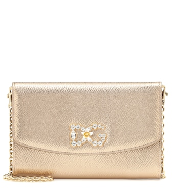 Dolce & Gabbana - Wallet leather shoulder bag - mytheresa.com