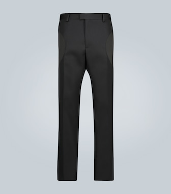 Bottega Veneta - Straight-Fit Hose aus Wolle - mytheresa.com