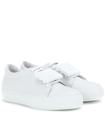Acne Studios - Adriana leather sneakers - mytheresa.com