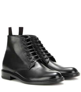 Saint Laurent - Leather ankle boots - mytheresa.com