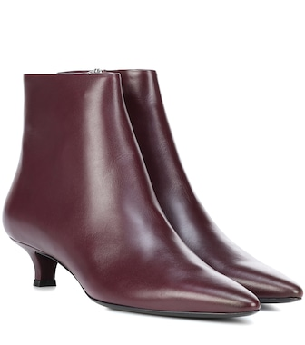 The Row - Bottines en cuir Coco - mytheresa.com