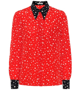Miu Miu - Star-printed silk blouse - mytheresa.com