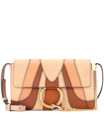 Chloé - Faye Small suede and leather shoulder bag - mytheresa.com