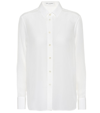 Saint Laurent - Paris silk shirt - mytheresa.com