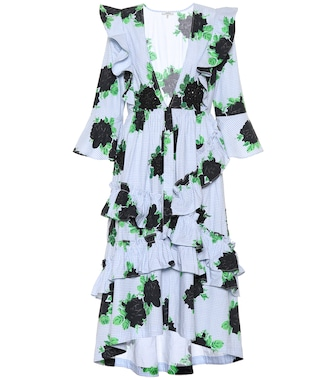 Ganni - Pine ruffled cotton dress - mytheresa.com