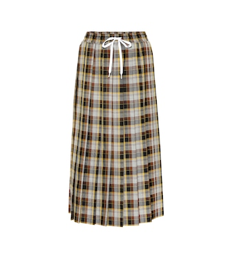Miu Miu - Checked wool skirt - mytheresa.com