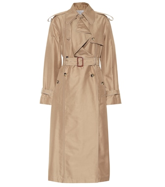 Valentino - Cotton and silk trench coat - mytheresa.com