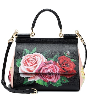 Dolce & Gabbana - Sicily Small leather shoulder bag - mytheresa.com