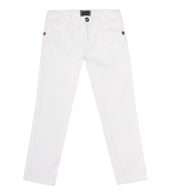 Young Versace - Stretch-cotton straight jeans - mytheresa.com