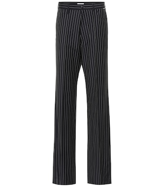 Balenciaga - Striped wool and cashmere pants - mytheresa.com
