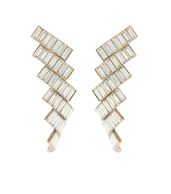 Balenciaga - Evening crystal-embellished earrings - mytheresa.com