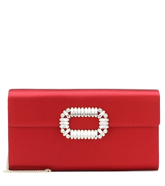 Roger Vivier - Evening Envelope satin clutch - mytheresa.com