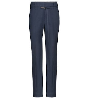 Brunello Cucinelli - Linen and cotton straight pants - mytheresa.com
