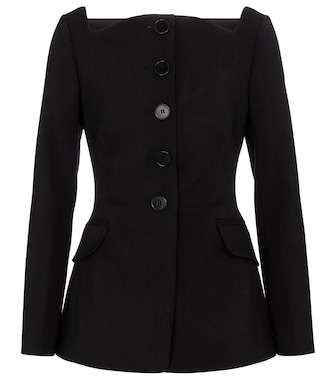 Carolina Herrera - Square-neck wool-blend blazer - mytheresa.com