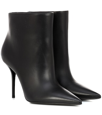Saint Laurent - Pierre 95 leather ankle boots - mytheresa.com
