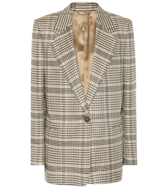 Acne Studios - Checked wool-blend blazer - mytheresa.com