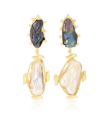 Peet Dullaert - Riya 14kt gold-plated earrings with Baroque pearls - mytheresa.com