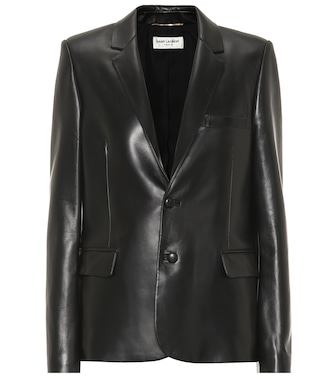 Saint Laurent - Leather blazer - mytheresa.com