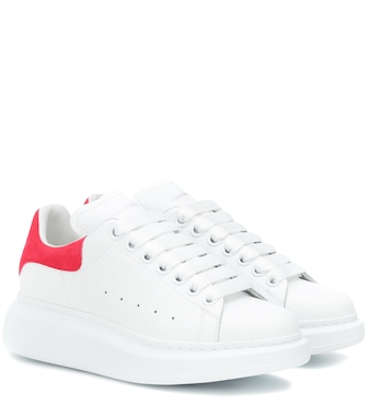 Alexander McQueen - Leather sneakers - mytheresa.com
