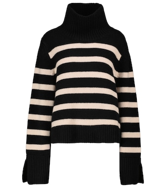 KHAITE - Marion striped turtleneck sweater - mytheresa.com