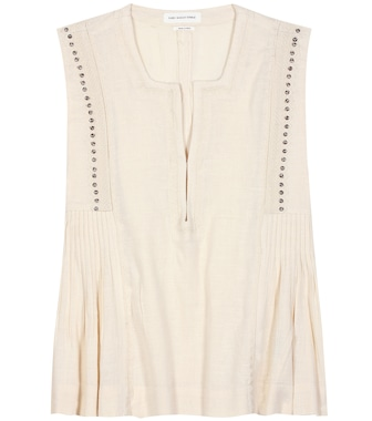 Isabel Marant, Étoile - Adonis cotton-blend top - mytheresa.com