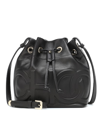 Jimmy Choo - Juno leather bucket bag - mytheresa.com