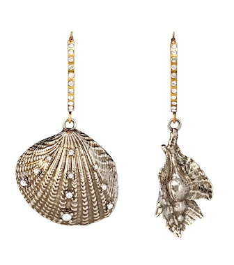 Alexander McQueen - Shell hoop earrings - mytheresa.com
