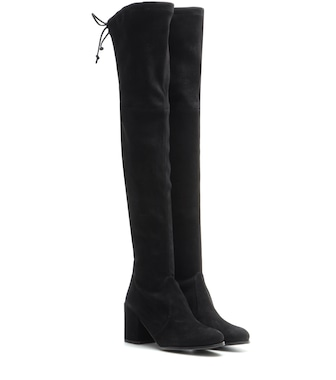 Stuart Weitzman - Tieland suede over-the-knee boots - mytheresa.com