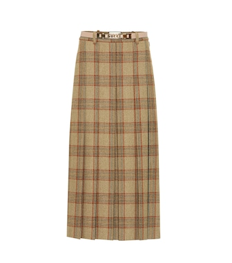 Gucci - Checked wool skirt - mytheresa.com