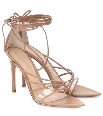 Gianvito Rossi - PVC-trimmed leather sandals - mytheresa.com