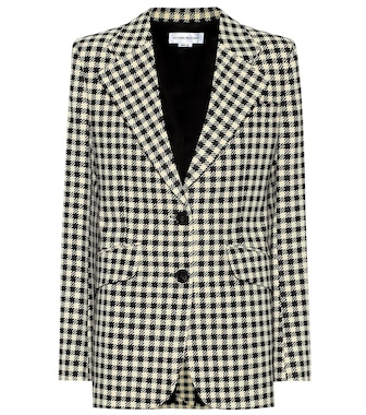 Victoria Beckham - Houndstooth single-breasted blazer - mytheresa.com