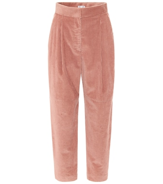 Brunello Cucinelli - High-rise tapered corduroy pants - mytheresa.com