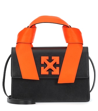 Off-White - Jitney 1.4 leather tote - mytheresa.com