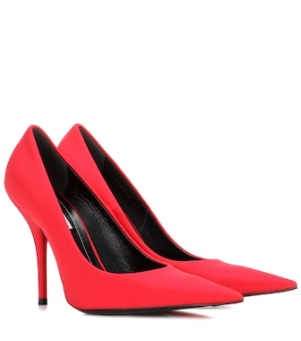 Balenciaga - Satin pumps - mytheresa.com