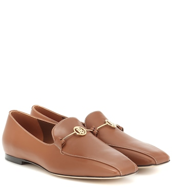 Burberry - Monogram leather loafers - mytheresa.com