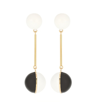 JW Anderson - Enamel Mini Sphere drop earrings - mytheresa.com