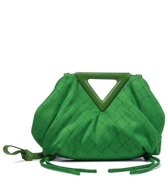 Bottega Veneta - Point Small jacquard shoulder bag - mytheresa.com