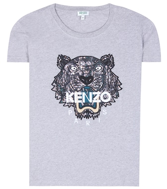Kenzo - Embroidered cotton T-shirt - mytheresa.com
