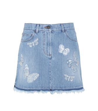 Valentino - Embroidered mini skirt - mytheresa.com
