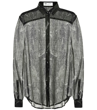 Saint Laurent - Camouflage virgin wool shirt - mytheresa.com