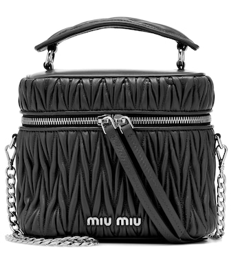 Miu Miu - Mini Matelassé leather tote - mytheresa.com