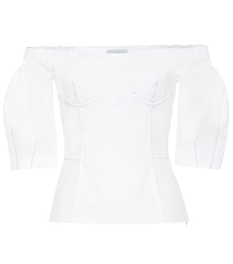 Gabriela Hearst - Melanie off-the-shoulder cotton top - mytheresa.com