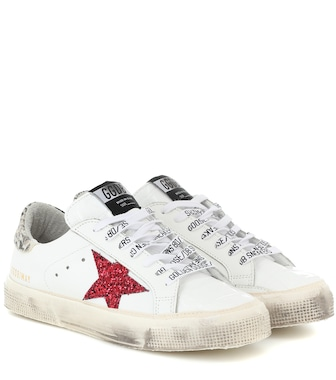 Golden Goose - May leather sneakers - mytheresa.com