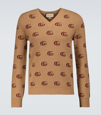 Gucci - Double G jacquard wool sweater - mytheresa.com