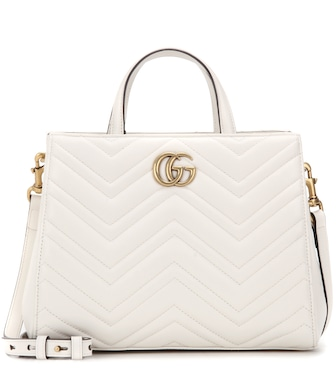 Gucci - GG Marmont Small matelassé leather tote - mytheresa.com