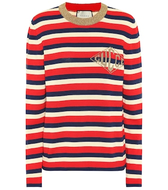 Gucci - Striped cotton sweater - mytheresa.com