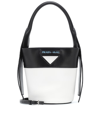 Prada - Leather bucket bag - mytheresa.com