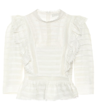 Zimmermann - Top Allia in lino con ruches - mytheresa.com