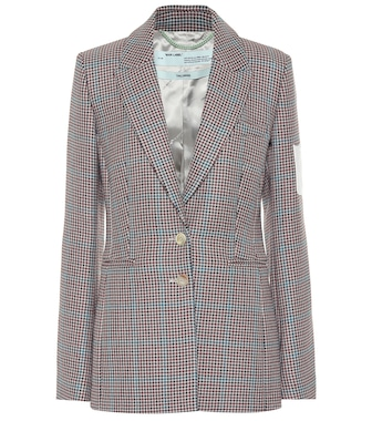 Off-White - Checked wool blazer - mytheresa.com